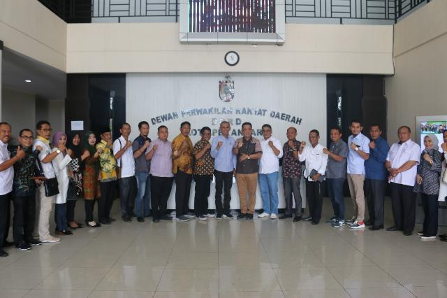 Bahas Persoalan RKT, DPRD Inhil Kunjungi DPRD Pekanbaru