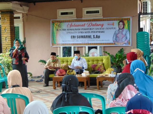 Wakil Rakyat Pekanbaru Lakukan Sosialisasi Perda Naker Lokal